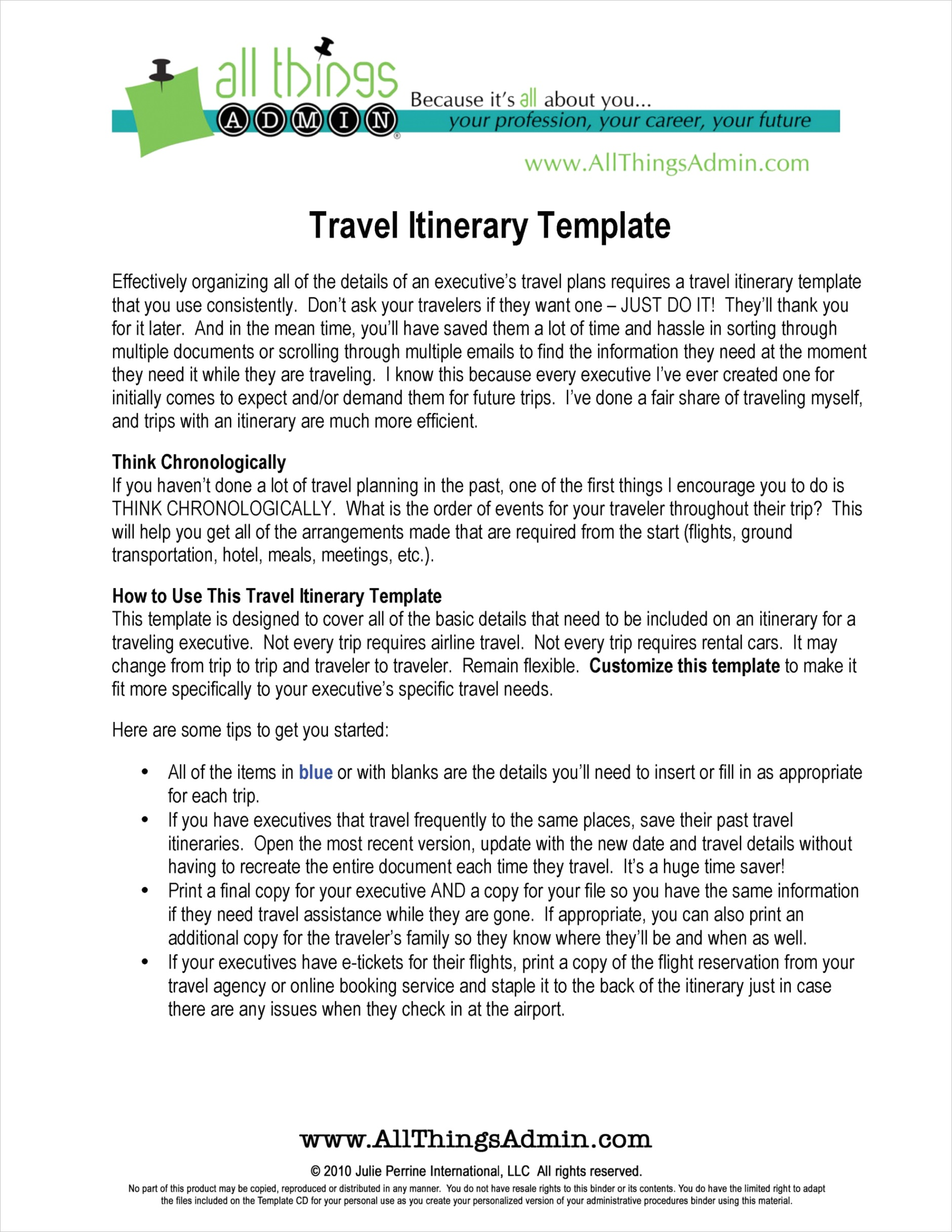 stunning executive assistant travel itinerary template