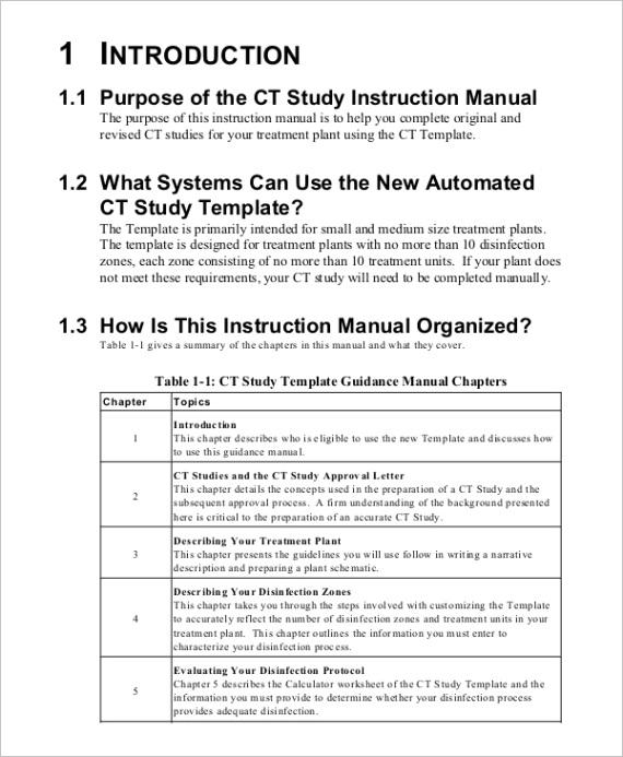 sample instruction manual