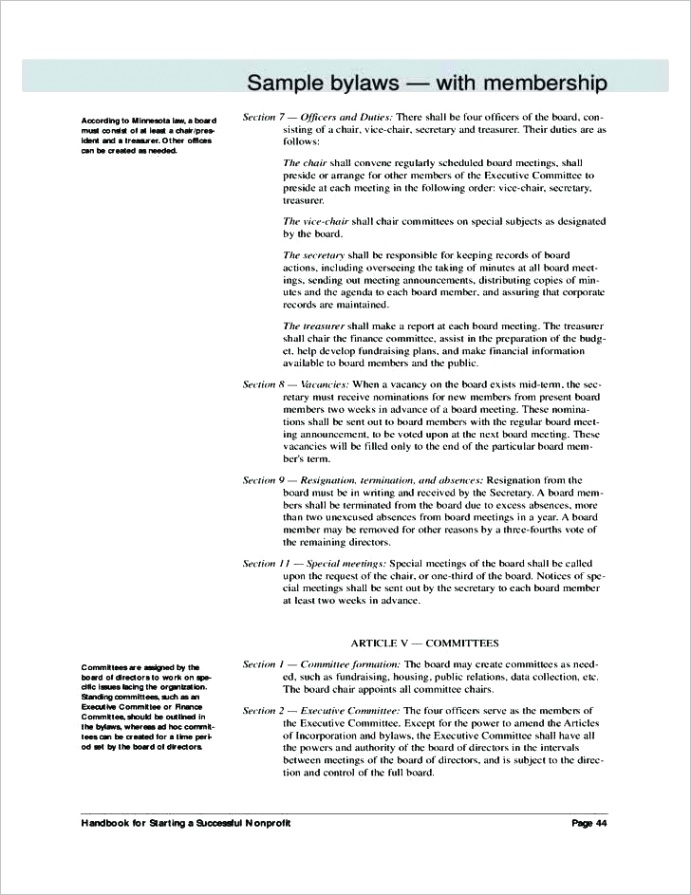 what is an operating agreement beautiful corporate bylaws template free for nonprofit organization