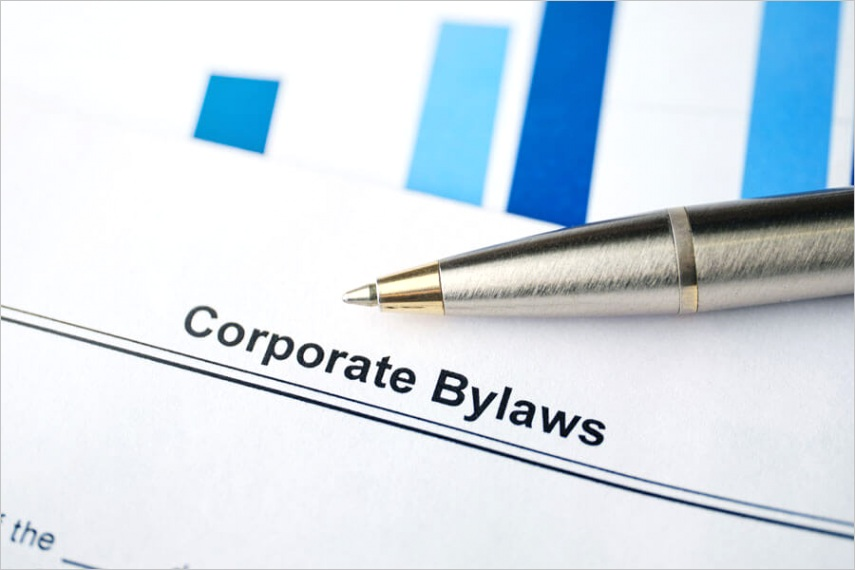 corporate bylaws to be included with free templates