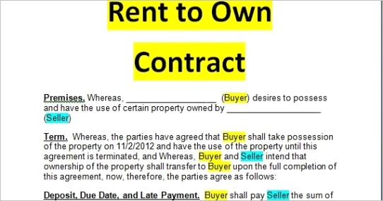rent to own contract pdf and doc formsml