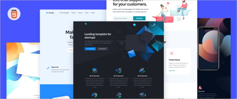 40 free landing page templates 3gfp