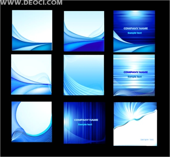 classic blue background pattern cover design template free