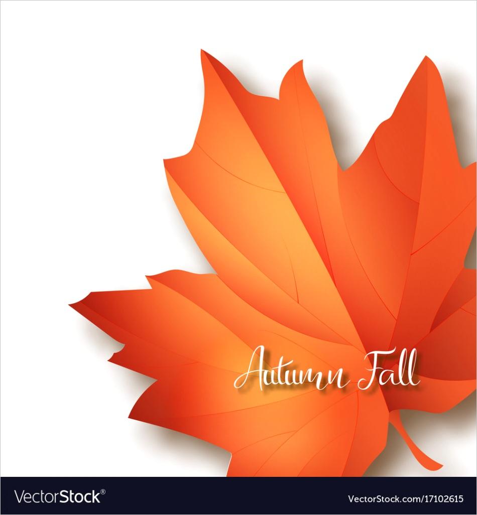 hello september autumn flyer template vector