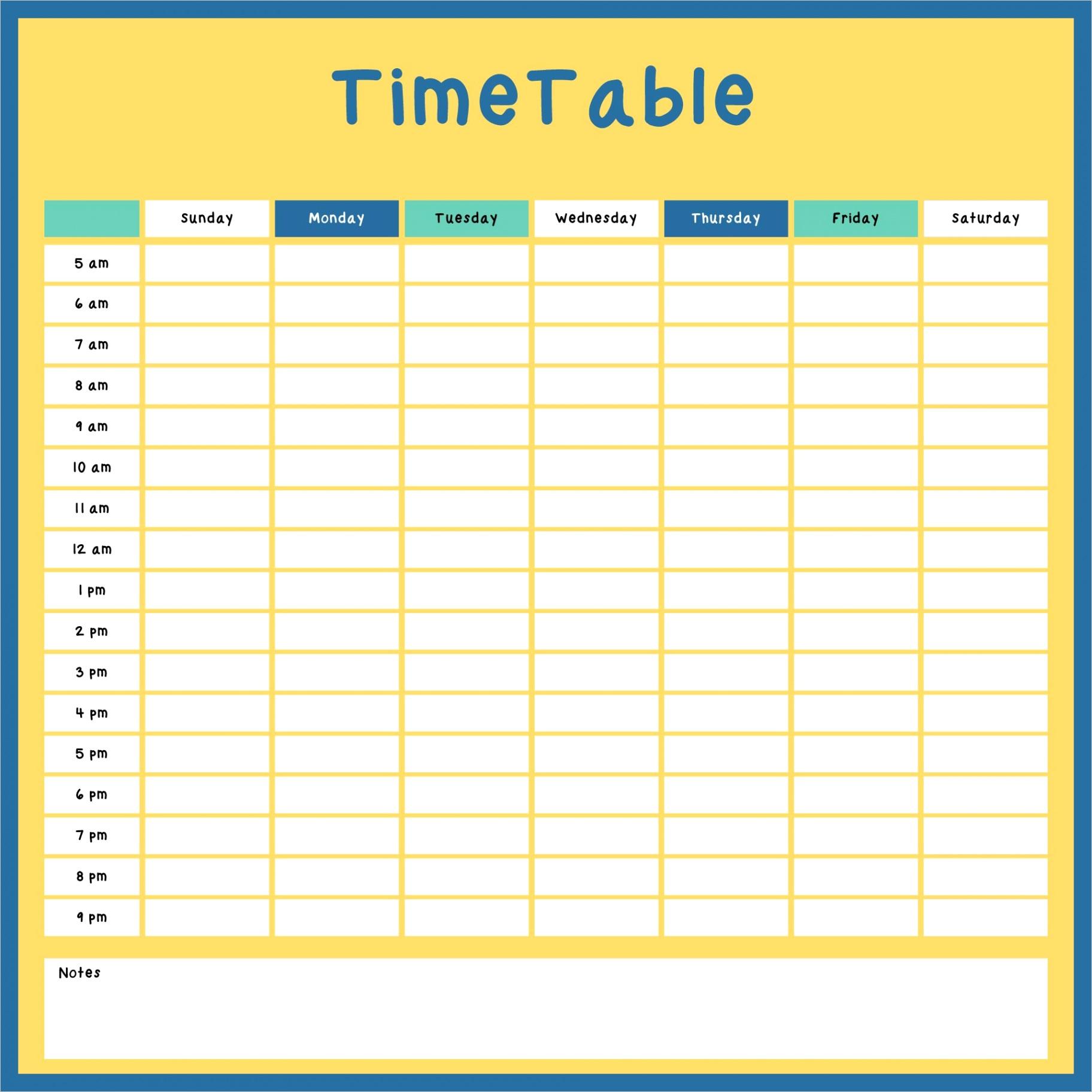 post printable weekly hourly planner