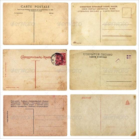 sample old postcard