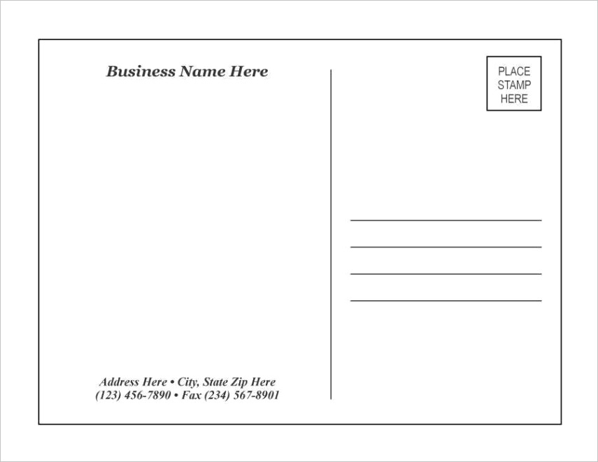 14 customize our free postcard layout template word for ms word with postcard layout template word