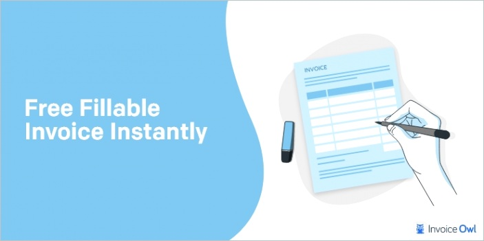 free fillable pdf invoice template instantly