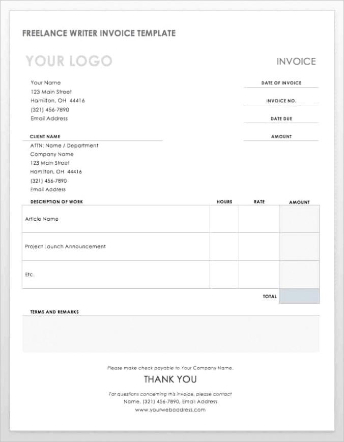 ms word invoice templates
