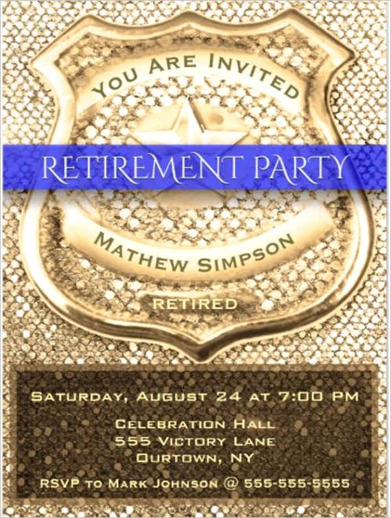 retirement invitation templatesml