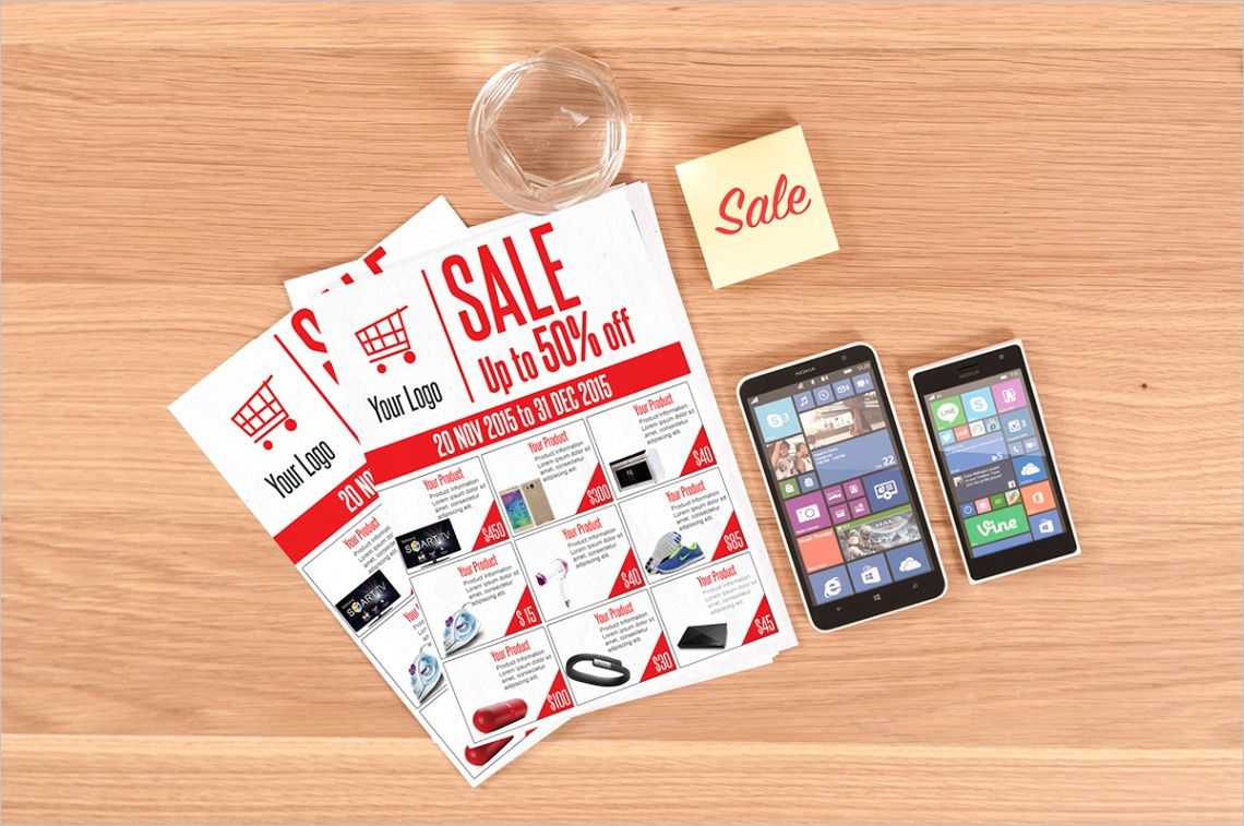 Sale Flyer Free PSD Template Download