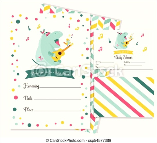 baby shower invitation template with ml