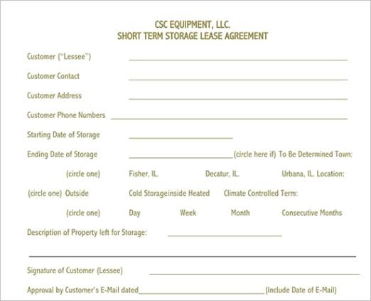 equipment rental lease agreement