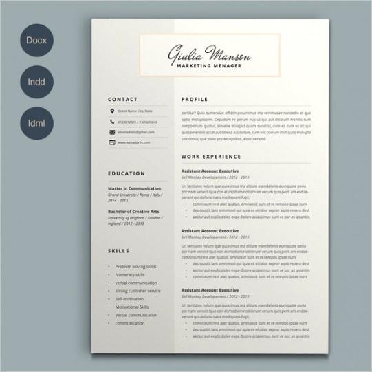 resume template word resume resume