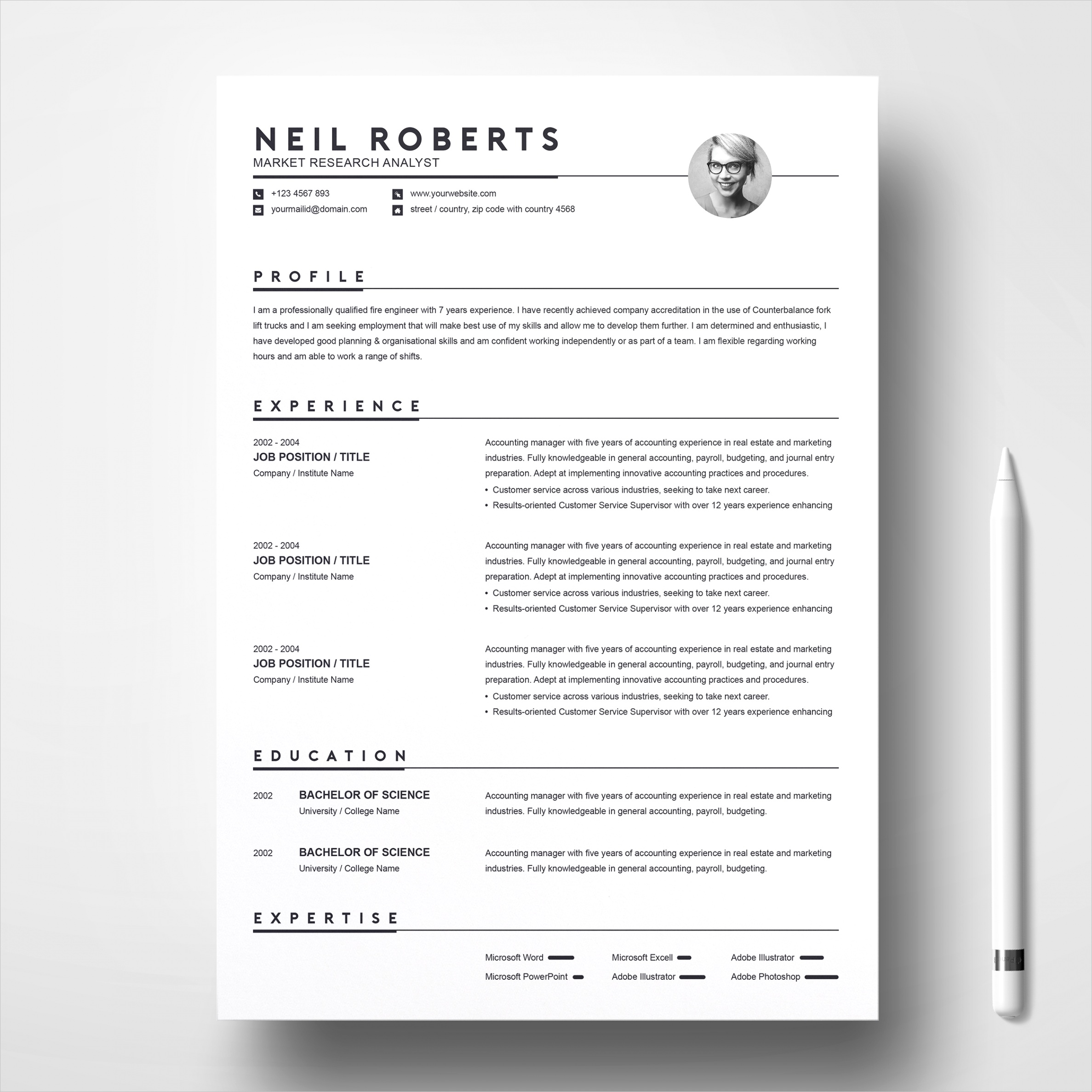 clean resume template word resume cv cover letter