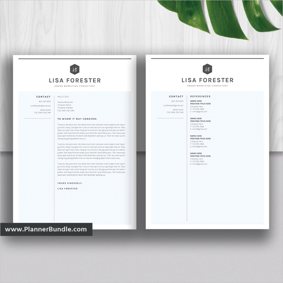 professional resume template cv template word creative modern resume cover letter instant the lisa resume