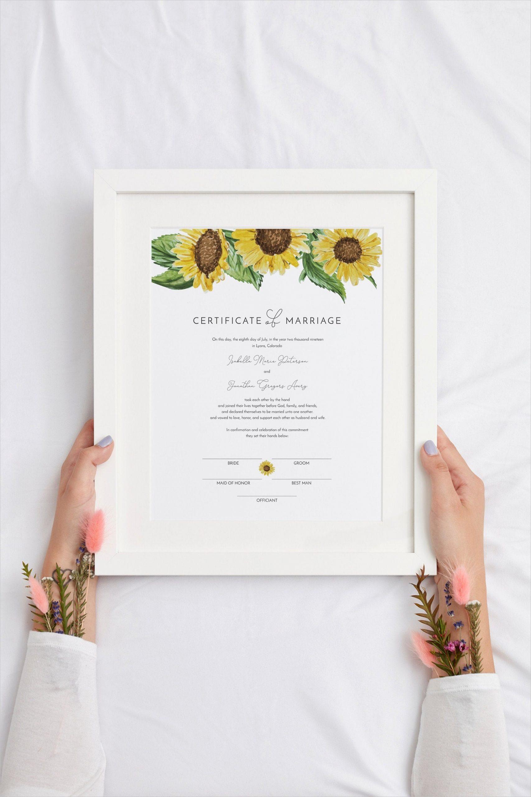emma sunflower marriage certificate
