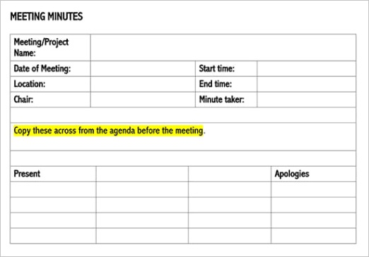 meeting minutes meeting notes
