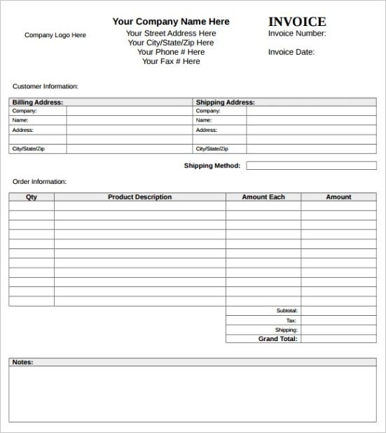 microsoft invoice templateml