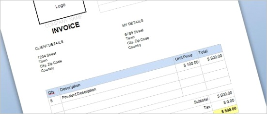 free mercial invoice template for word