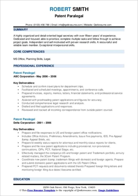 sample resume for paralegals m=1