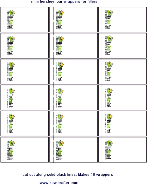32 hershey bar label templateml