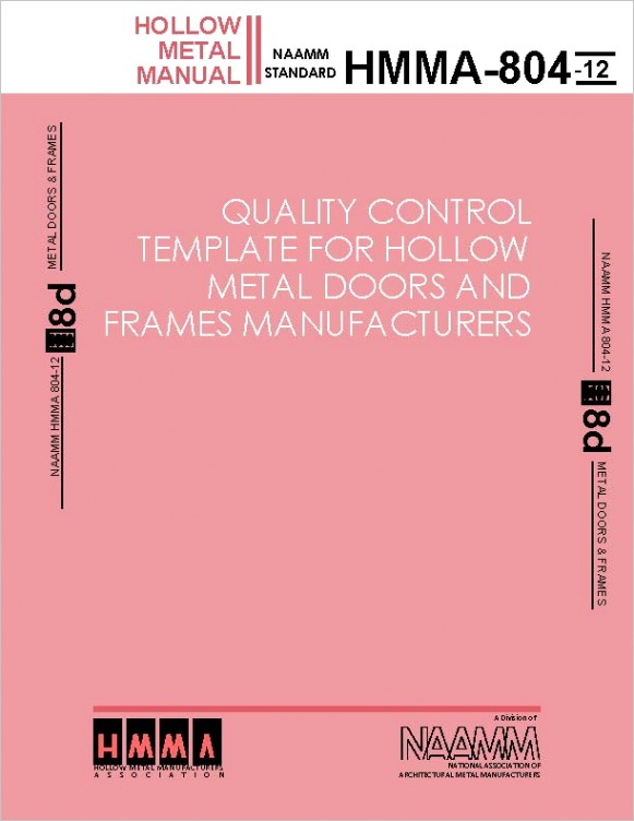 quality control template for hollow metal doors and frames manufacturers