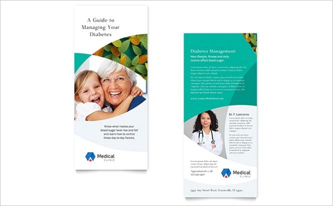 Doctors fice Rack Card Template Design MD x