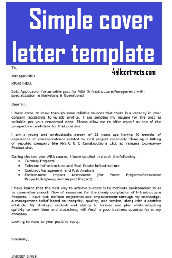 simple cover letter template free m=1
