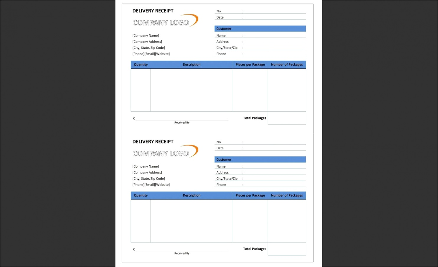 free receipt templates for microsoft word