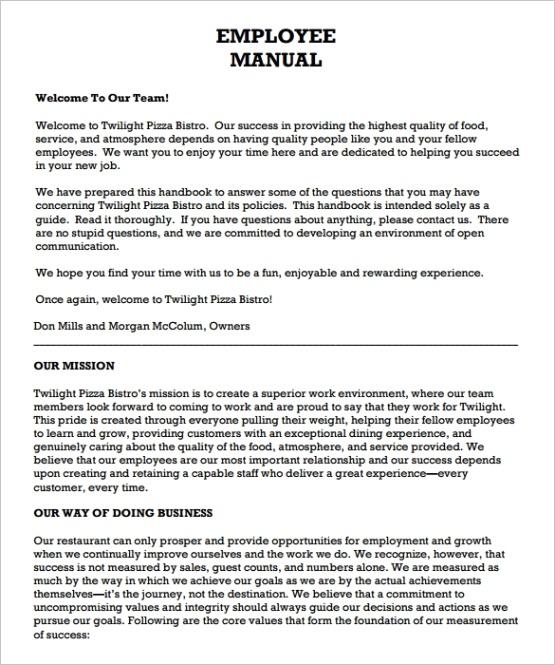 employee manual templateml