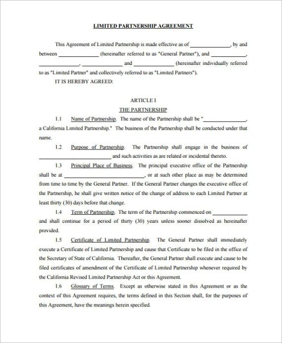 partnership contract templatesml