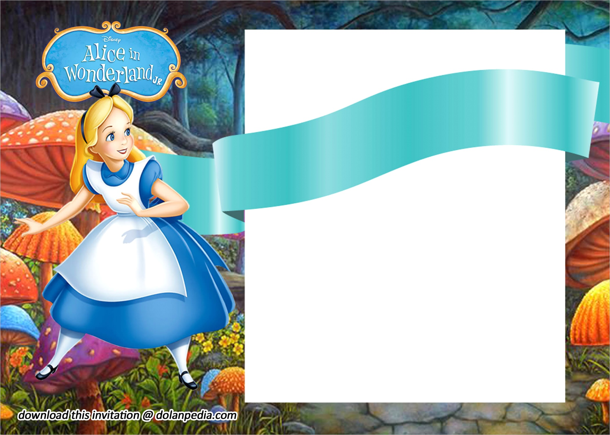 free printable alice in wonderland invitation templatesml