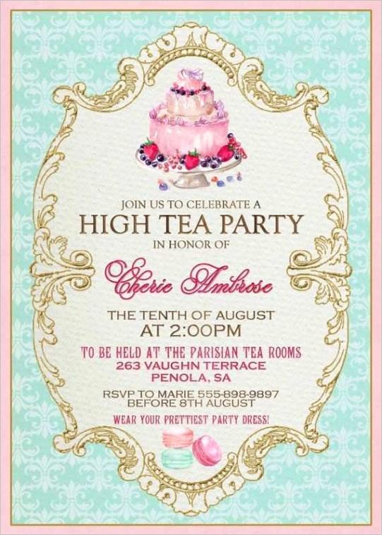 88 free printable victorian tea party invitation template for ms word for victorian tea party invitation template