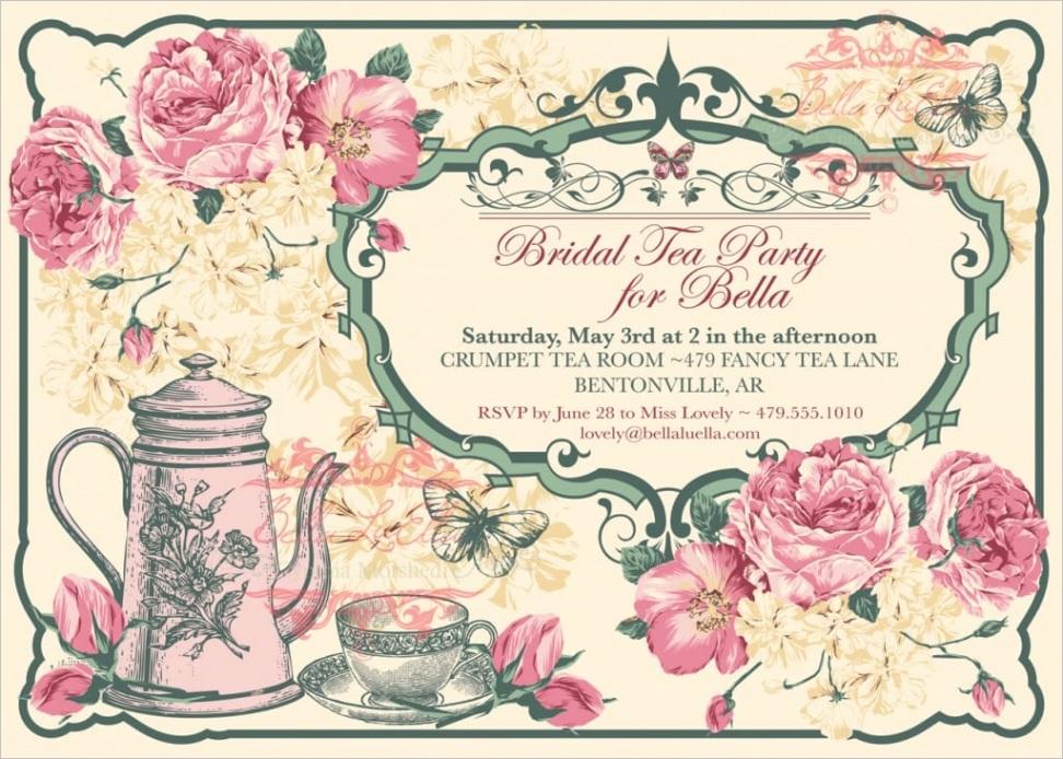 clipart tea party invitationml
