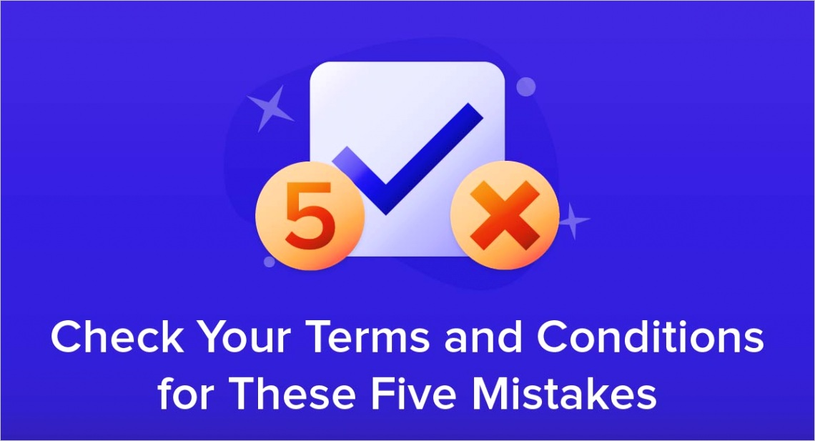 five mistakes terms conditions