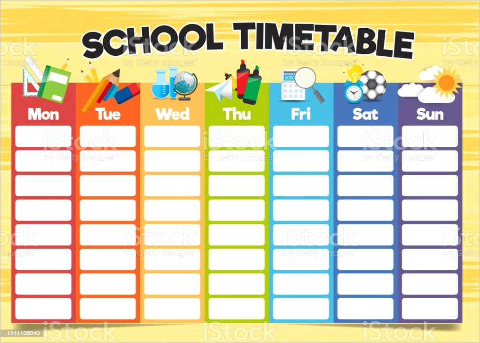 school timetable template a weekly curriculum design template gm