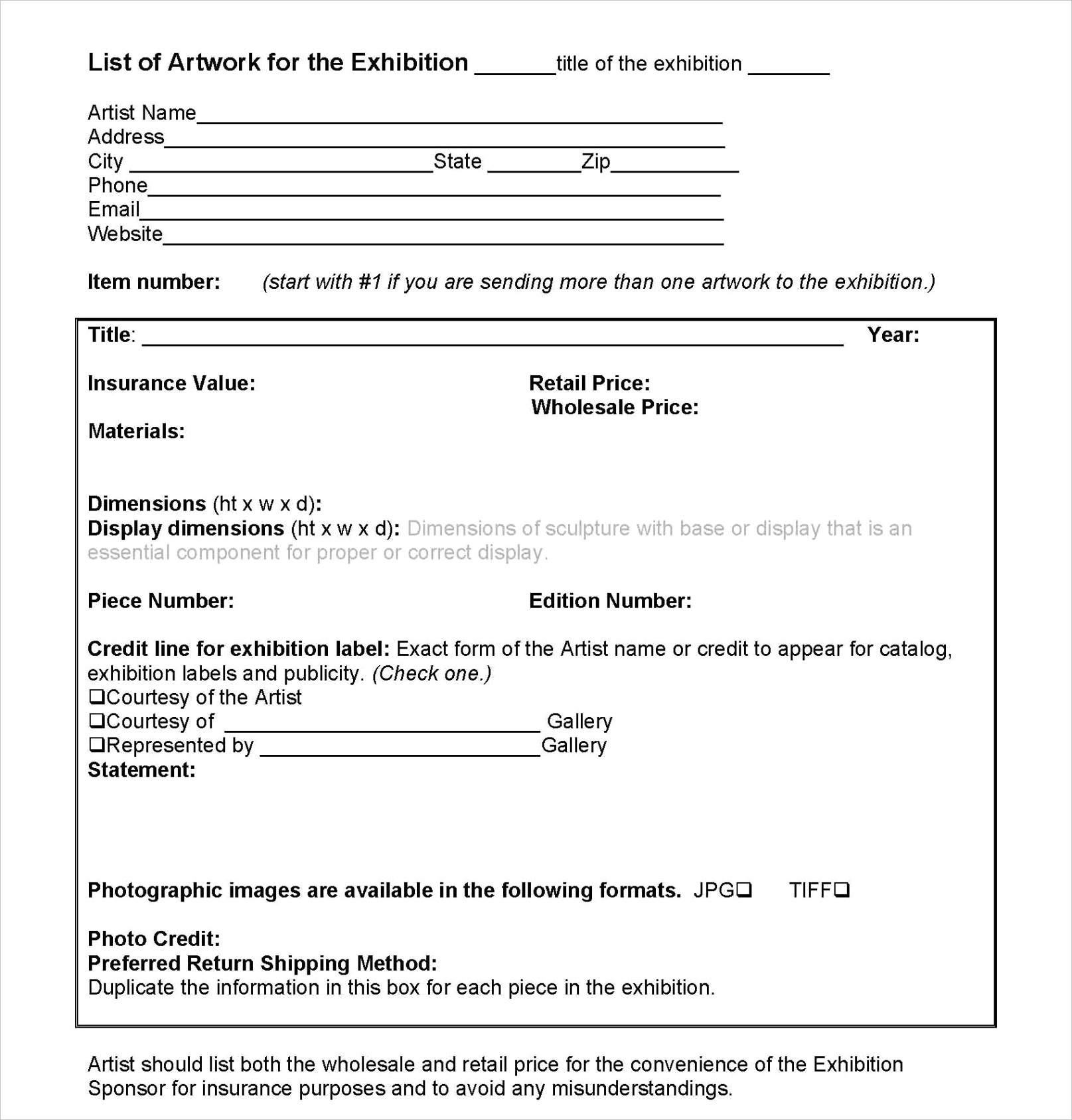 exhibition contract for the arts and crafts munity