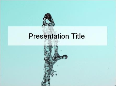 water spurt powerpoint template m