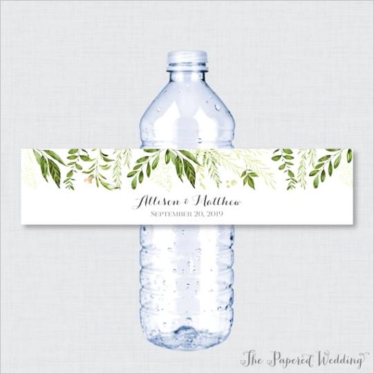 printable or printed greenery wedding