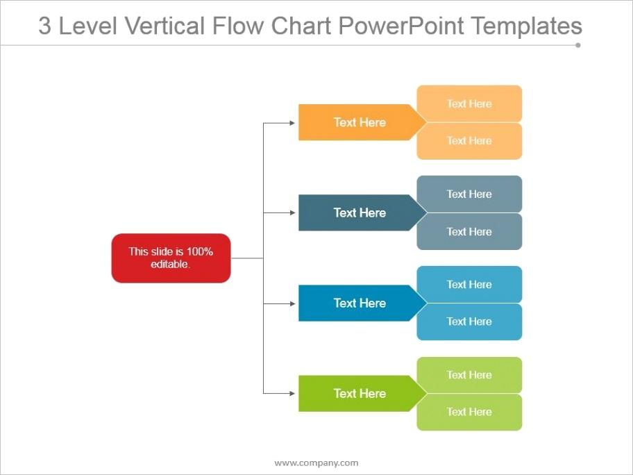 3 level vertical flow chart powerpoint templatesml