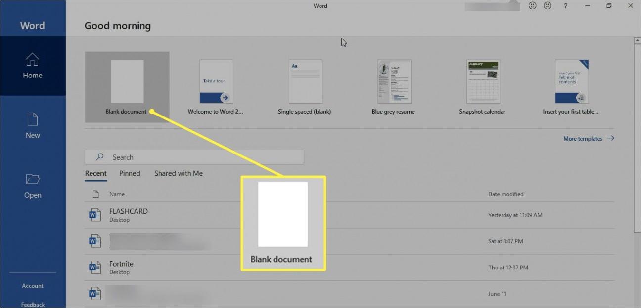 make flashcards using microsoft word
