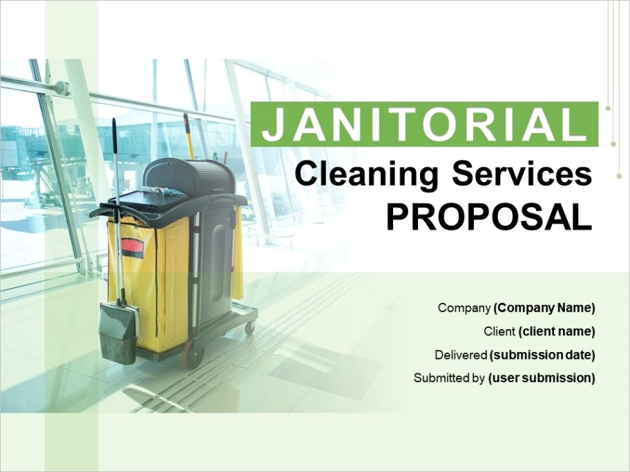 janitorial cleaning services proposal powerpoint presentation slidesml