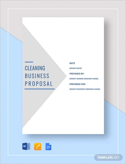 sample cleaning proposal formml
