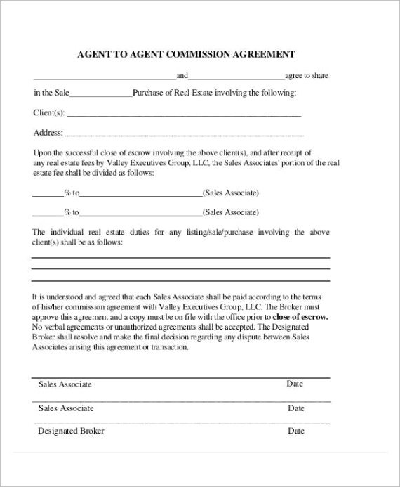 agent mission agreement template