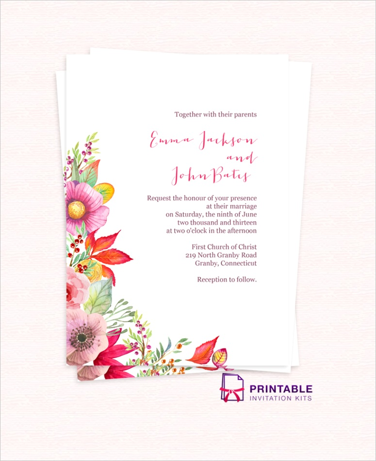 50 free to floralgarden wedding invitation templates