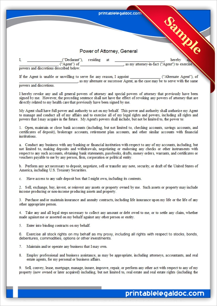 power of attorney general