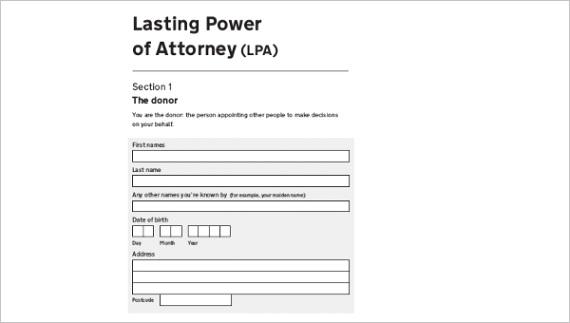 power of attorney formsml