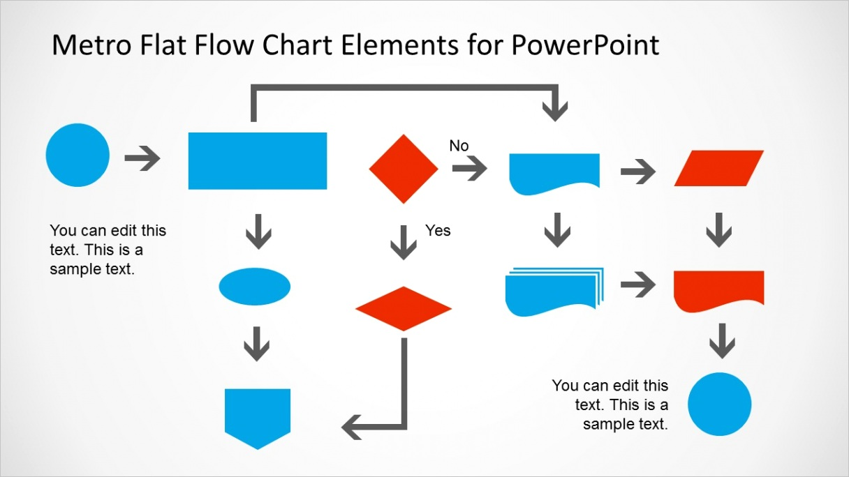 metro style flow chart template powerpoint