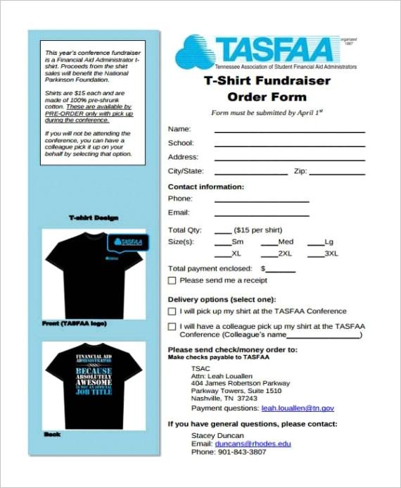 sample fundraiser order template pdf word excelml